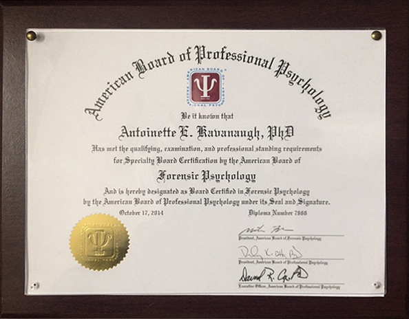 Forensic Psychology Board Certification | Chicago, IL | 60602